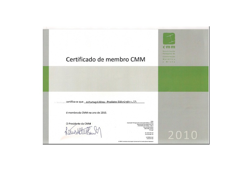 Certificado de Membro CMM